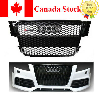RS5 style Gloss Black Mesh Grill Front Grille for Audi A5 S5 RS5 8T 2008-2012