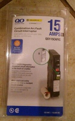 Square D QO115CAFIC Combination Arc Fault Circuit Interrupter NEW FREE SHIP!