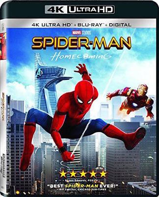 Spider-Man Homecoming - [4K Ultra Hd + Blu-Ray] - New Unopened - Tom Holland