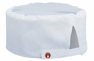 Chef Works Mens Cool Vent Chef Beanie, White, One Size