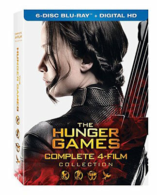 Hunger Games Blu-Ray Collection - Complete 4-Film Collection [6 Discs] - New