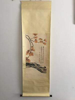 Excellent old Chinese Scroll Painting By Qi Baishi: cicada x038