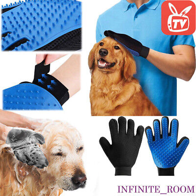Deshedding Pet Grooming Glove Brush Fur Remover Mitt for Dog Cat Horse Rabbit