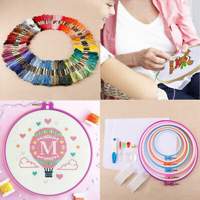 50-100 Cotton Hand Embroidery Thread Skein Floss Cross Stitch Sewing Craft Cloth