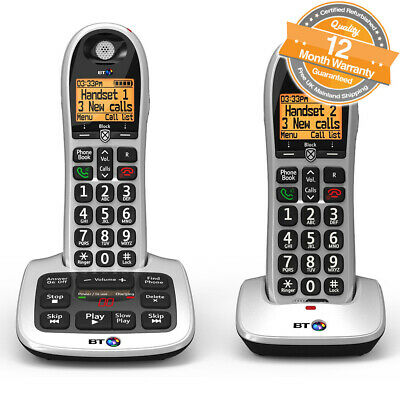 BT 4600 Twin Digital Big Button Cordless Answer Phone with Advanced Call Blocker