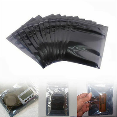 30/50x ESD Anti-Static Shielding Zip Lock Storage Self Seal Antistatic Bags