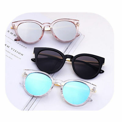 Women Retro Cat Eye Sunglasses Classic Vintage Fashion Shades Clear Eyewear