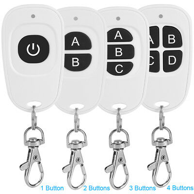 1/2/3/4Buttons 433MHz 1~4 Channel Mini RF Wireless Remote Control Transmitter LJ