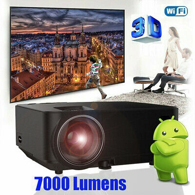 5000Lumens Mini Projector Wifi LED Smart Android TV Box WiFi 3D HD 1080P 1GB 8GB