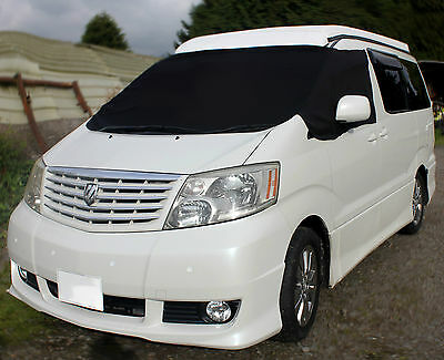 Deluxe Toyota Alphard Black Out Blind Screen Cover Camper Van Frost Protection