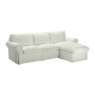 Ikea Ektorp Loveseat With Chaise Seat Sectional Cover Stenasa White