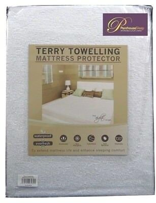 3in1 Terry Towel WATERPROOF Mattress Protector Cover Soft Deep 30cm Fitted Sheet