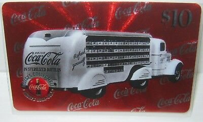 $10 Drink Coca Cola Phone Card Truck #4  Micro-lined Sprint US 1996 VHTF 1937