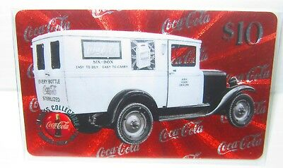 $10 Coca Cola Phone Card Truck #7 Six-Box Micro-lined Sprint US 1996 VHTF 1920's