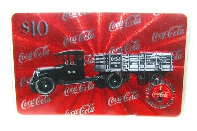 $10 Coca Cola Phone Card Truck # 2 1920's No.60 Micro-lined Sprint US 1996 COKE