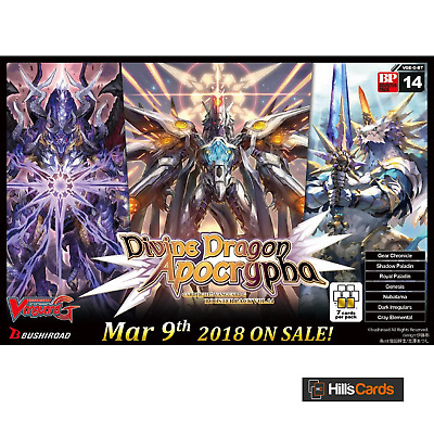 Cardfight Vanguard TCG Divine Dragon Apocrypha G-BT14 Booster Box of 16 Packs