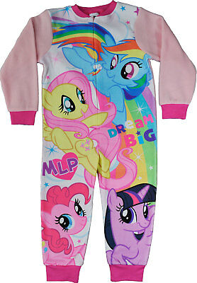 My Little Pony All In One Sleepsuit Girls Jumpsuit Pyjamas MLP Sizes 2 - 8 Years
