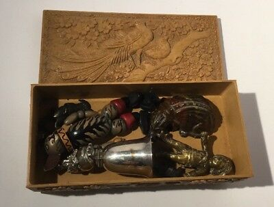 vintage box of novelty items 19th - 20th century