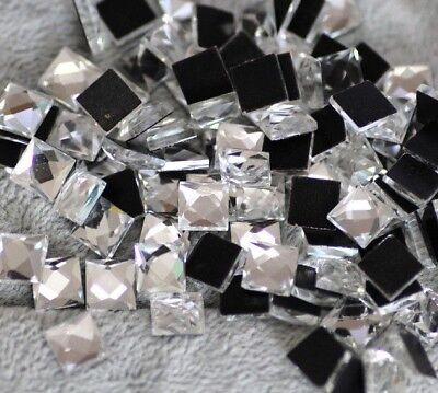 Square Hot Fix/Iron On Transfer Glue On Flat Back Crystals Rhinestones/Diamante