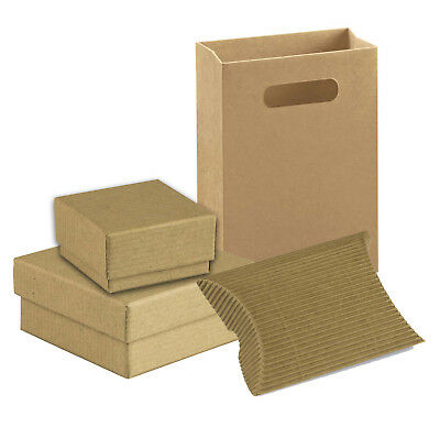 Kraft Eco Recycled Brown Cardboard Jewellery Gift Boxes