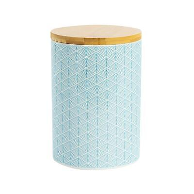 Porcelain Biscuit Barrel Cookie Jar Kitchen Storage Container - Light Blue