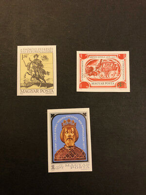 Hungary Scott No. 2547, 2549, 2550 MNH Imperforate Imperf Imp Stamps of 1978