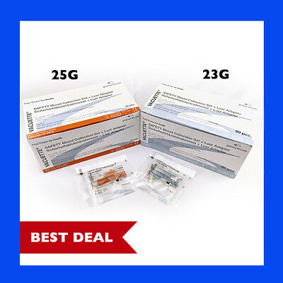 25g and 23g Special Combo Pack Greiner Butterfly Safety Needle w/ Adapter