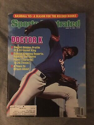 New York Mets Dwight Gooden 1985 Sports Illustrated 4X All Star Cy Young Doc