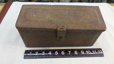 Vintage Fordson Tractor Steel Tool Box