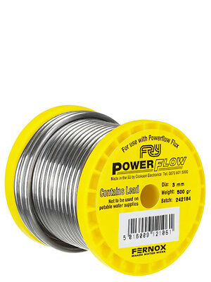 Plumbers Leaded Solder (sold in cut lengths) 3mm Fry's Powerflow Solder Wire