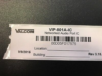 Valcom VIP-801A-IC Networked InformaCast Audio Port 1 channel