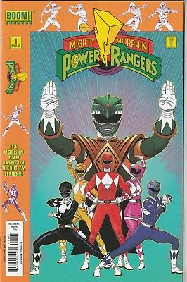 Mighty Morphin Power Rangers (2016) #1 NM- 9.2 Launch Party Variant Boom!