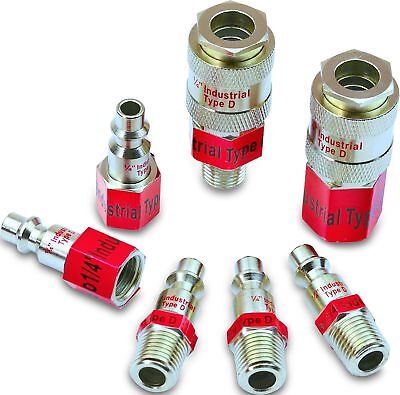 EPAuto Industrial Type D 1/4-Inch Coupler and Plug Kit, 7 Pieces , New