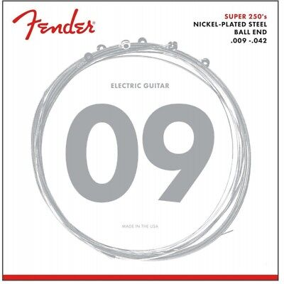 (3 Pack)  Fender Super 250L Nickel Plated Steel Electric Guitar Strings (9-42)