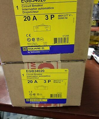 Egb34020 Square D New In Boxes (25 Available) Free Shipping