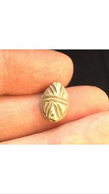 Ancient Egypt. Hyksos (C.1600 B.c). Small Carved  Steatite Scarab.