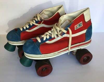 2d735f8ba1 Vintage 70s Vans Off The Wall Roller Skates ACS Trucks Skateboard Skater  Shoes