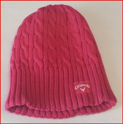 Callaway Cable Knit Beanie - Pink - Brand New - Value Plus!!