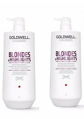 Goldwell Dualsenses Blondes & Highlights Shampoo and Conditioner 1lt Duo 2018