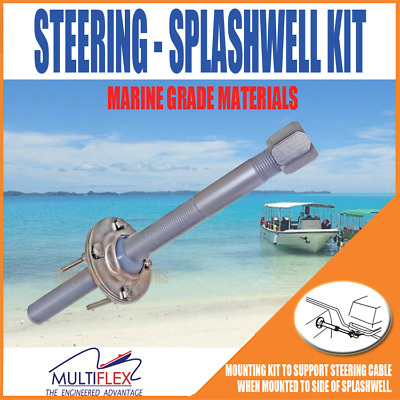 Multiflex Splashwell Mounting Kit For Boat Marine To Support Steering Cable