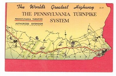 Worlds Greatest Highway , The Pennsylvania Turnpike System Linen Postcard