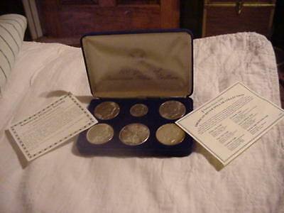 100 Years of American Silver Dollars Coin Set in Velveteen Box COA Included