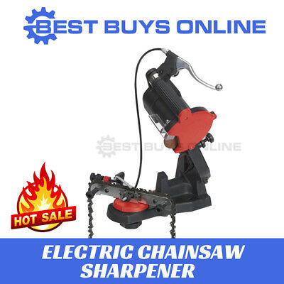New ELECTRIC CHAINSAW SHARPENER WITH HAND BRAKE CHAINSAW GRINDER BENCH MOUNTED
