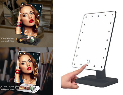 20 LED Lighted Vanity and 10x Magnifying Makeup Mirror Cosmetic Beauty US Stock