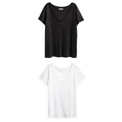 Two H&M Basic Tees L