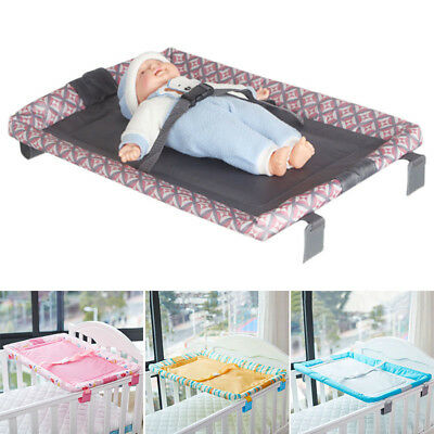 Baby Changing Table Infants Diaper Crib Change Clothes Station Adjustable Belt