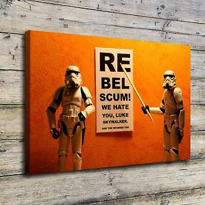 Stormtrooper Star Wars Painting HD Print on Canvas Home Decor Wall Art Picture