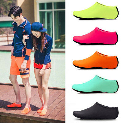 Hot Unisex Skin Water Shoes Aqua Beach Sock Yoga Exercise Pool Swim Slip On Surf