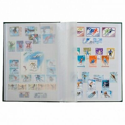 Stamp Collection Stockbook 9 x 12 16 White Pages Lighthouse Basic Blue A4 Album
