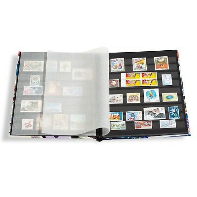 Stamp Collection Album Stock Book A4 9 x 12 32 Black Pages US Collector Gift New